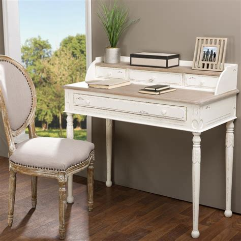 baxton studio trapezoid writing desk baxton studio alys white and light brown desk 28862 6035