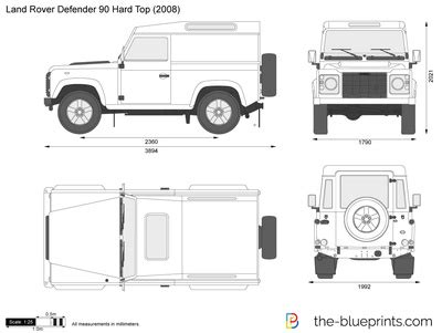 land rover defender vector the blueprints com vector drawing land rover defender