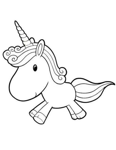 cartoon unicorn coloring pages cute coloring home
