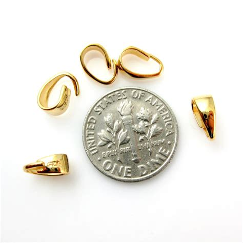 gold jewelry supplies wholesale gold plated sterling silver classic smooth bail