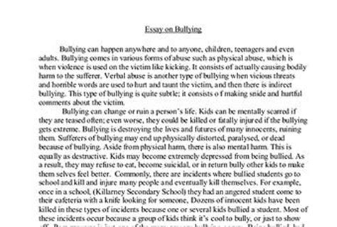 thesis abstract about bullying cyber bullying essay paperblog