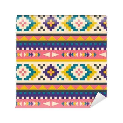 aztec pattern png seamless aztec pattern vinyl wall mural pixers 174 we