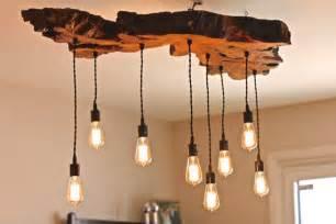 Wood Lighting Fixtures Olive Wood Live Edge Light Fixture Earthy Rustic Contemporary Chandelier Edison Bulbs Living