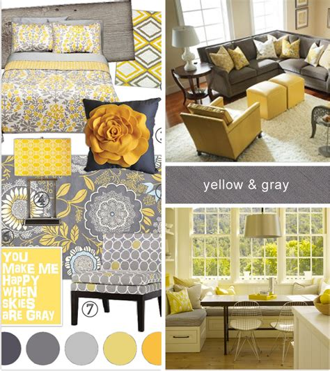 amazing interior with yellow grey black white designs