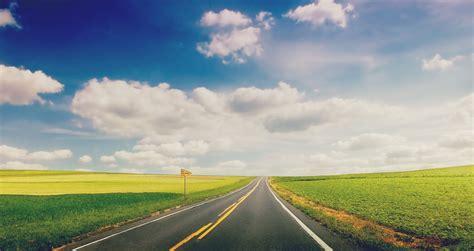 nature landscape grass green road track plate sky cloud