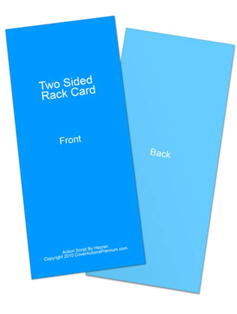 two sided rack card mockup cover actions premium