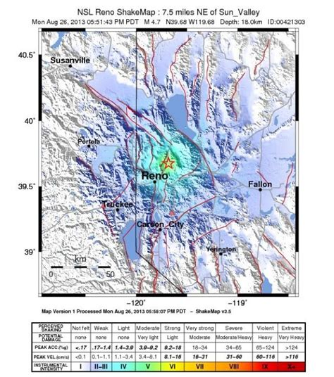 earthquake reno earthquake near reno felt as far away as the foothills fox40