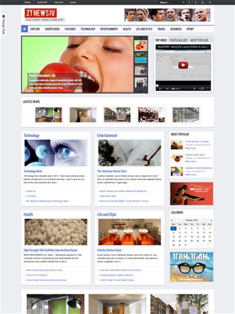 joomla templates for news website zt news 4 responsive joomla magazine template k2 cck support