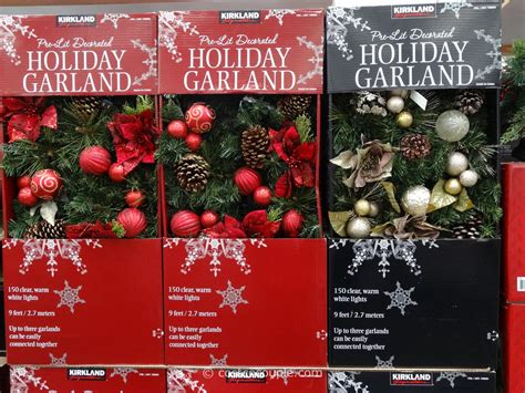 Kirklands Home Decor Store by Kirkland Signature Pre Lit Decorated Holiday Garland