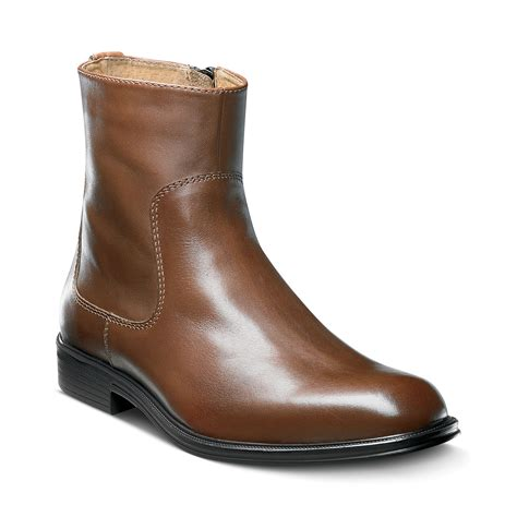florsheim boots florsheim network plain toe boots in brown for lyst