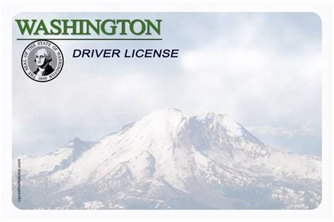 washington state id card template drivers license printable template info wbadvies nl