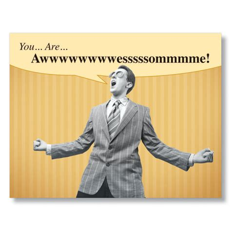 you are awesome images you are awesome humorous business thank you cards from