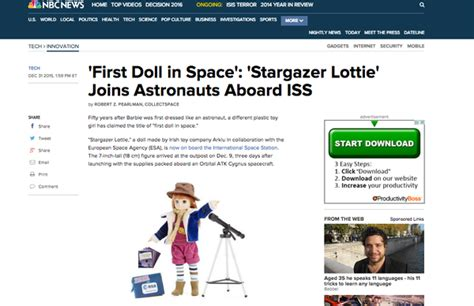 lottie doll in space stargazer lottie in space mentioned in nbc lottie dolls