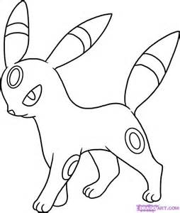 pokemon umbreon coloring pages coloring home