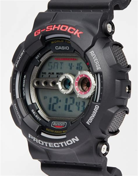 lyst g shock g shock digital gd 100 1aer in black for