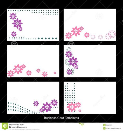 Free Card Templates For Photos Business Card Templates Stock Vector Illustration Of Floral 10121270