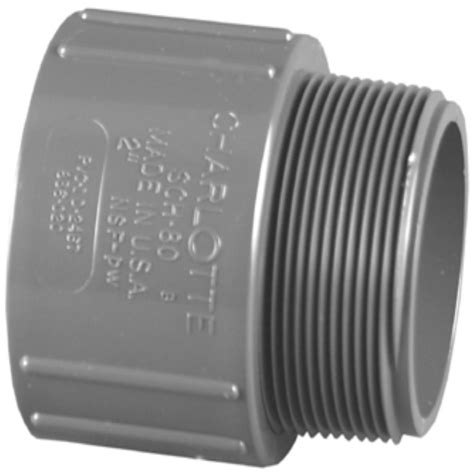 charlotte pipe    schedule  male adapter pvc