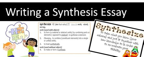 how to write a synthesis paper synthesis essay