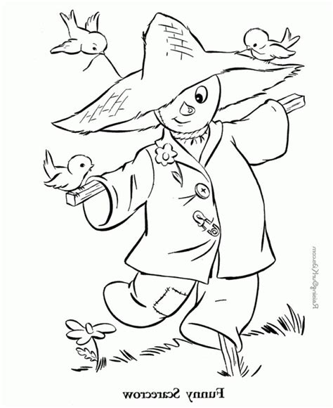 scarecrow coloring page pdf funny scarecrow coloring page kids colouring pages