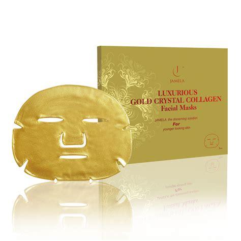 Mask Gold 24k jamela 24k gold collagen masks pered presents
