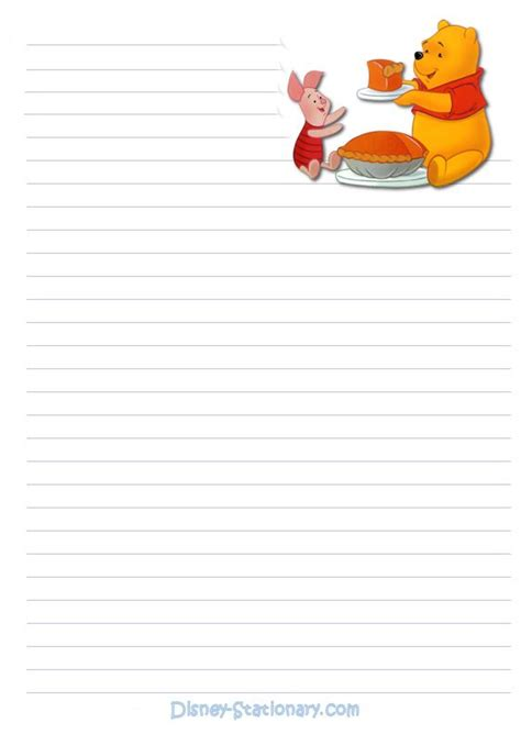 winnie the pooh writing paper 17 best images about paper designs on kawaii