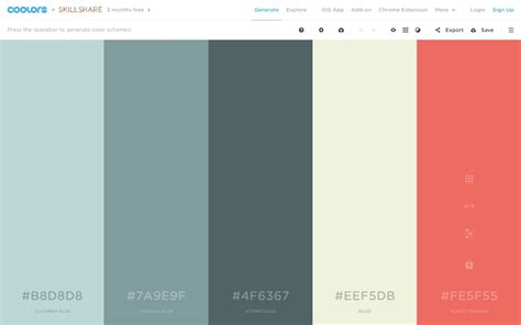 color schemes 5 apps to help you choose mesmerising color schemes
