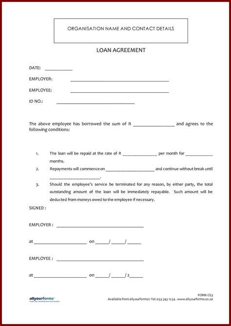 Printable Sample Loan Contract Template Form Auto Loan