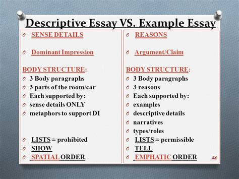 Dominant Impression Essay illustration example essay ppt