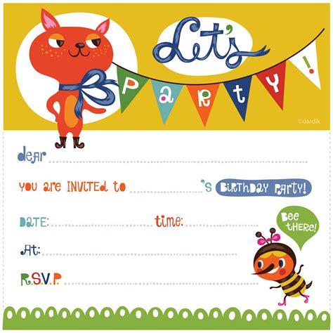 printable cat card template free printable birthday invitations free printable