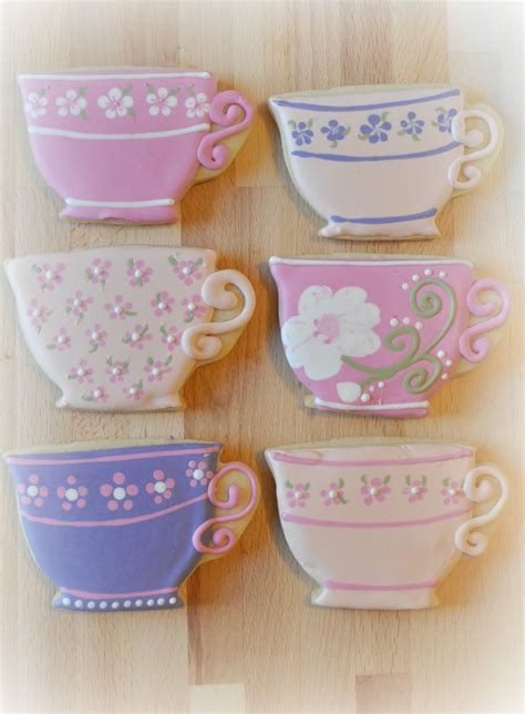 Tea Cups Decorations How To Make Teacup Cookies Downton Abbey Cookies Suz Daily