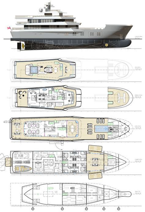 mega yacht layout 50m superyacht reach project layout yacht charter