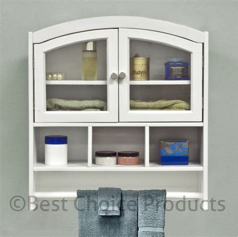 bathroom cabinet white arch top bath wall mount storage