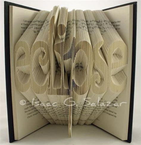 Origami 3d Book - books transformed into 3 d origami symbols recyclenation