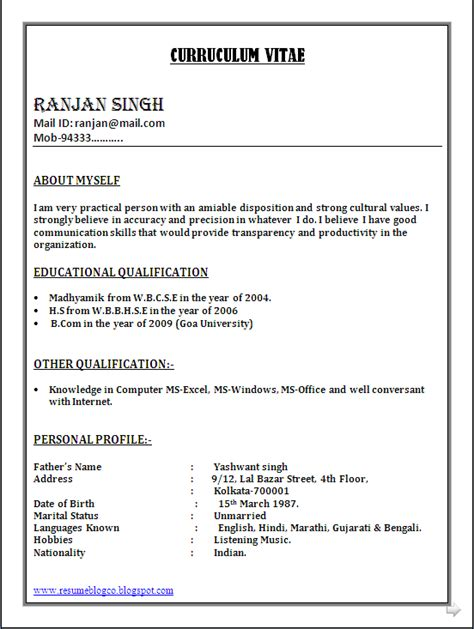 Resume Format For Freshers Word Doc Bpo Call Centre Resume Sle In Word Document Resume Formats