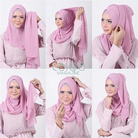 tutorial jilbab terkini gambar kreasi memakai hijab modern style terkini