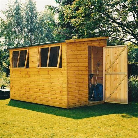 shire norfolk lean  shed  garden street