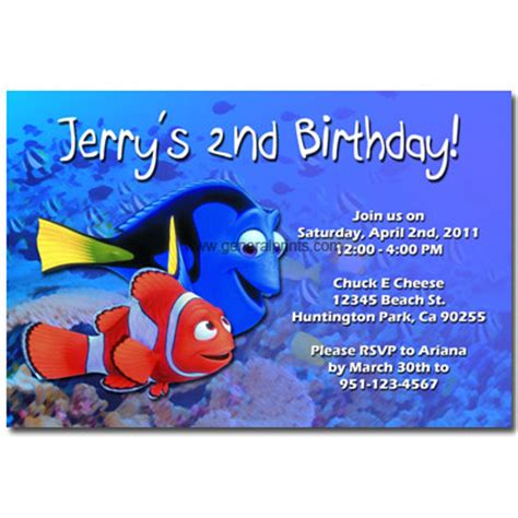 printable nemo birthday invitations bible coloring pages february 2013