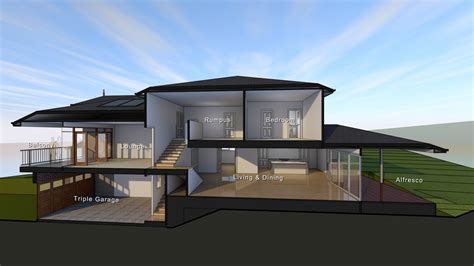 split level house plans with garage underneath australia