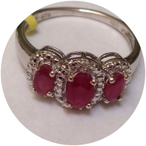 Ruby 3 65 Ct genuine ruby ring 1 35 cts 8 from violetskys s closet on