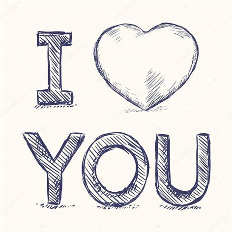 imagenes con la palabra i love you eu te amo desenho ilustra 231 227 o vetor de stock 169 nikiteev