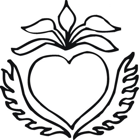 image gallery heart coloring pages flowers