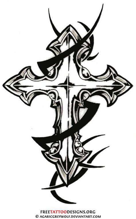 tattoo cross tribal design cross tattoo gallery