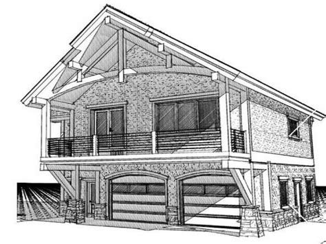 cabin plans with garage cabin with garage underneath cabin garage with living