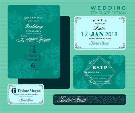 Wedding Invitation Card Background Design by Wedding Invitation Card Design With Green Bokeh Background