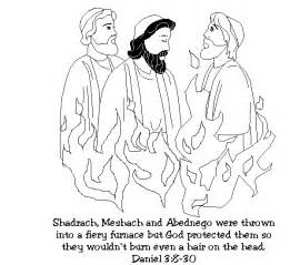 Shadrach Meshach And Abednego Coloring Pages Az Sketch Page sketch template
