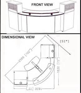 reception desk dimensions dimensions custom reception station