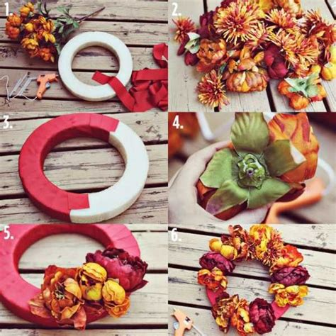 15 diy hang wreaths with fresh and dried flowers autumn
