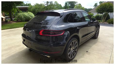 porsche macan all black vehicle protection 2015 porsche macan turbo black