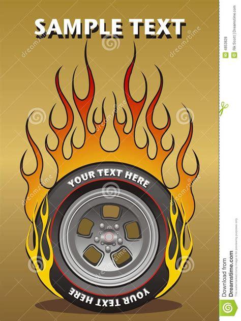 flaming wheel stock vector illustration  school flame