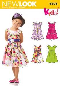 New look 6205 children s dress sewing pattern